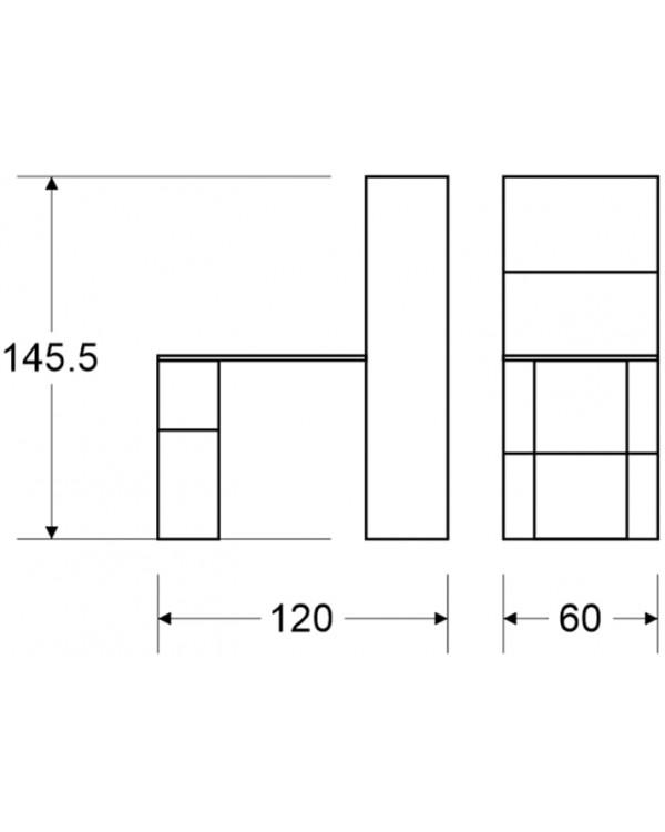 Компьютерный стол с полками - модель 613